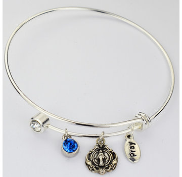 Bangle Bracelet w/ Miraculous Medal