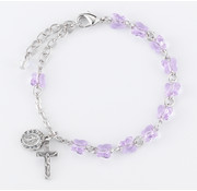 6mm Swarovski Violet Butterfly Rosary Bracelet