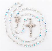 6mm Swarovski Crystal Butterfly Rosary w/ Sterling Silver Cfx & Ctr