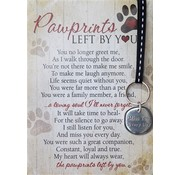 Pawprints Left By You Pewter Keychain