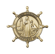 Saint Brendan Boat Plaque
