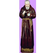 "24"" St. Padre Pio Outdoor Statue"
