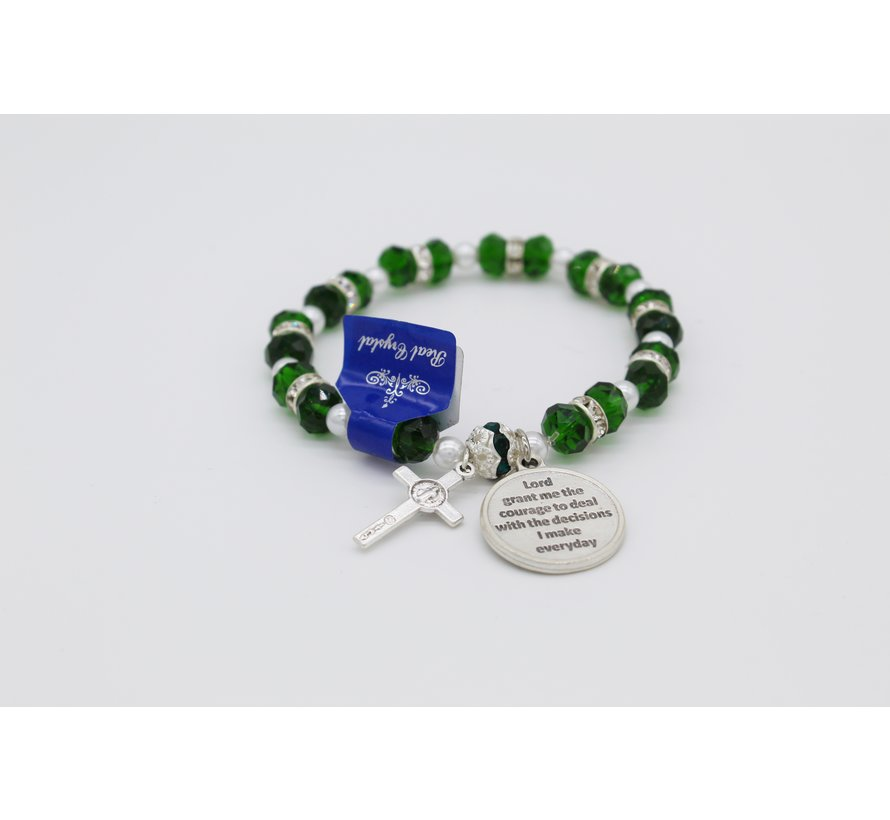 Italian Crystal Bracelet with Round Medal