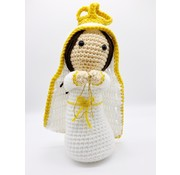 """10.5"""" Hand Crocheted Blessed Mother Dolls Dolls"""