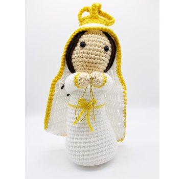 "10.5"" Hand Crocheted Blessed Mother Dolls Dolls"