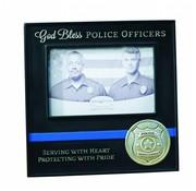 God Bless Police Officers Photo Frame