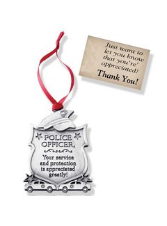 Sacred Heart Gifts & Apparel Police Ornament