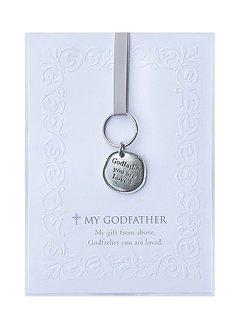 Godfather Pewter Keychain