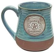 Police Pottery Mug