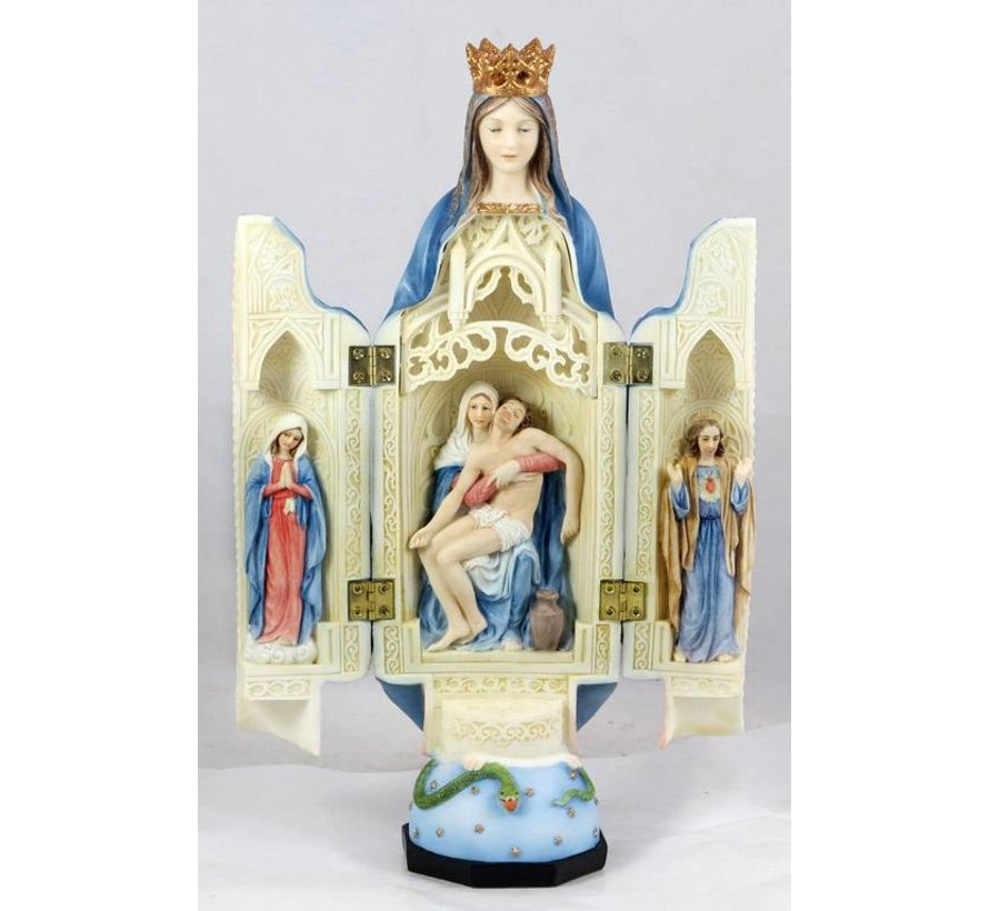 """Our Lady of Sorrows Triptych 11"""""""