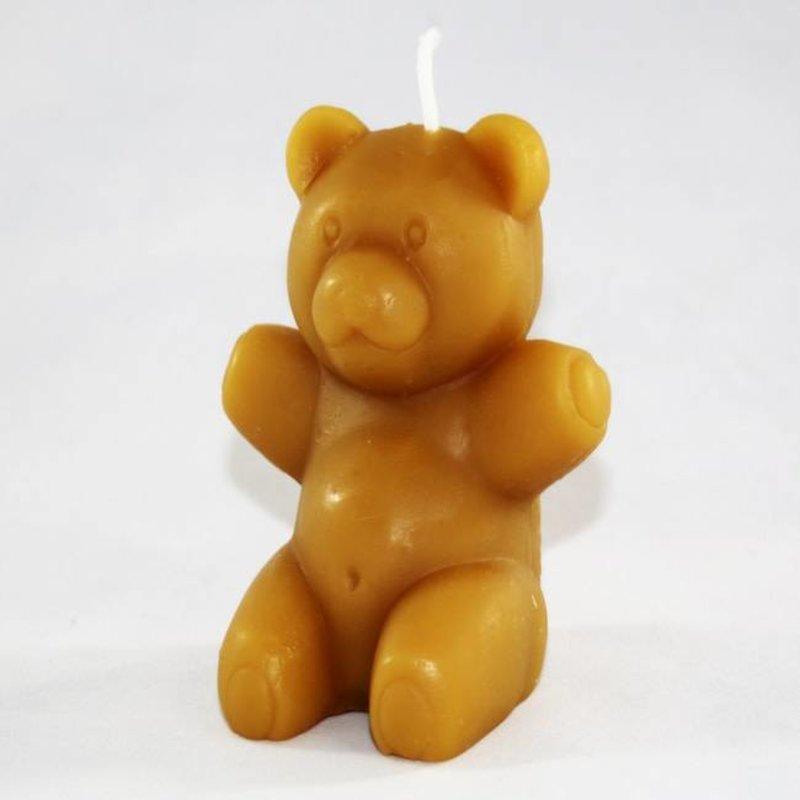 Bee Well Teddy Bear Beeswax Candle