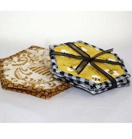 Bee Coasters 4pk