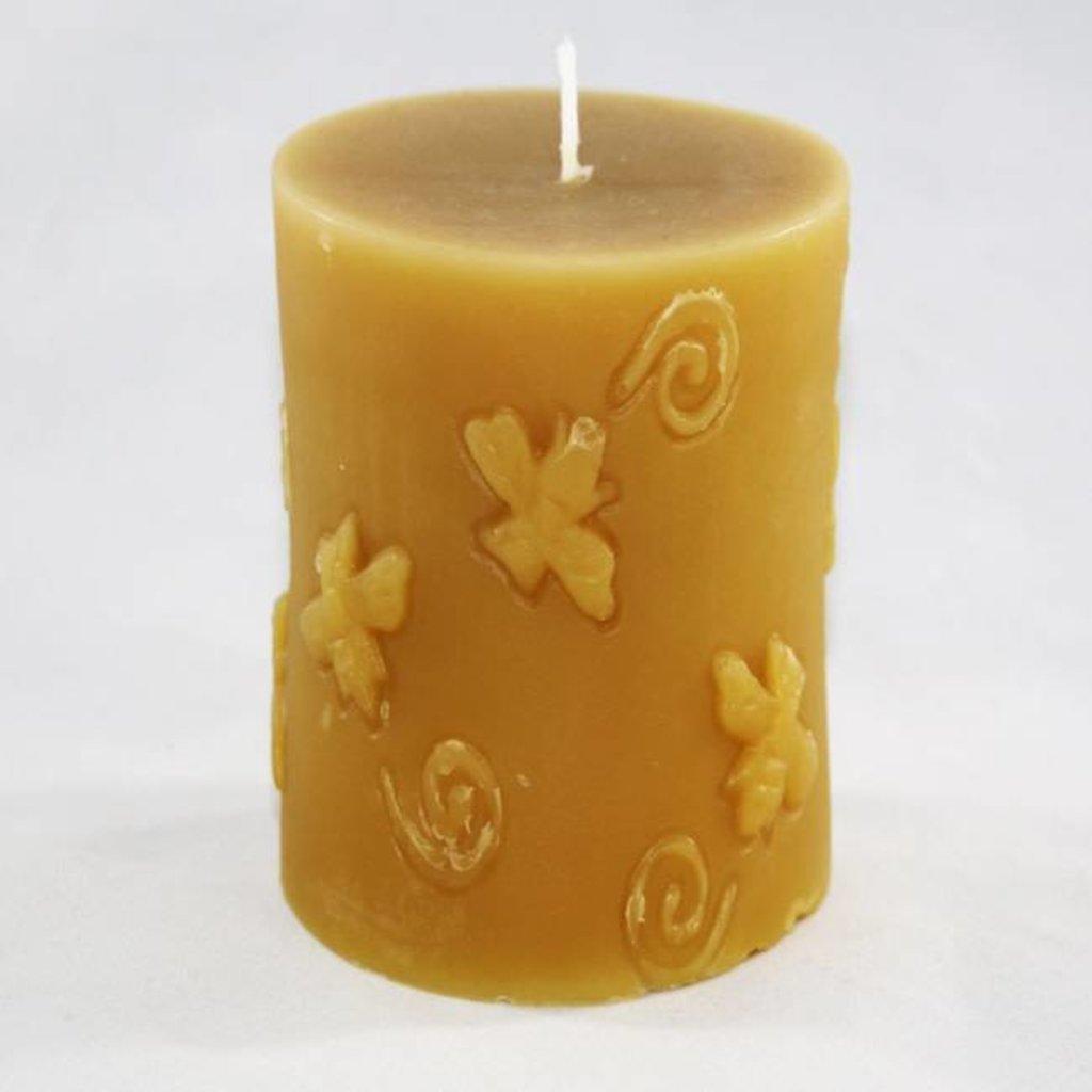 Bee Well Bee Cylinder Beeswax Candle