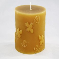 Bee Well Bee Cylinder Beeswax Candle