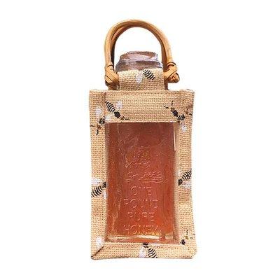 Burlap Bee Gift Bag