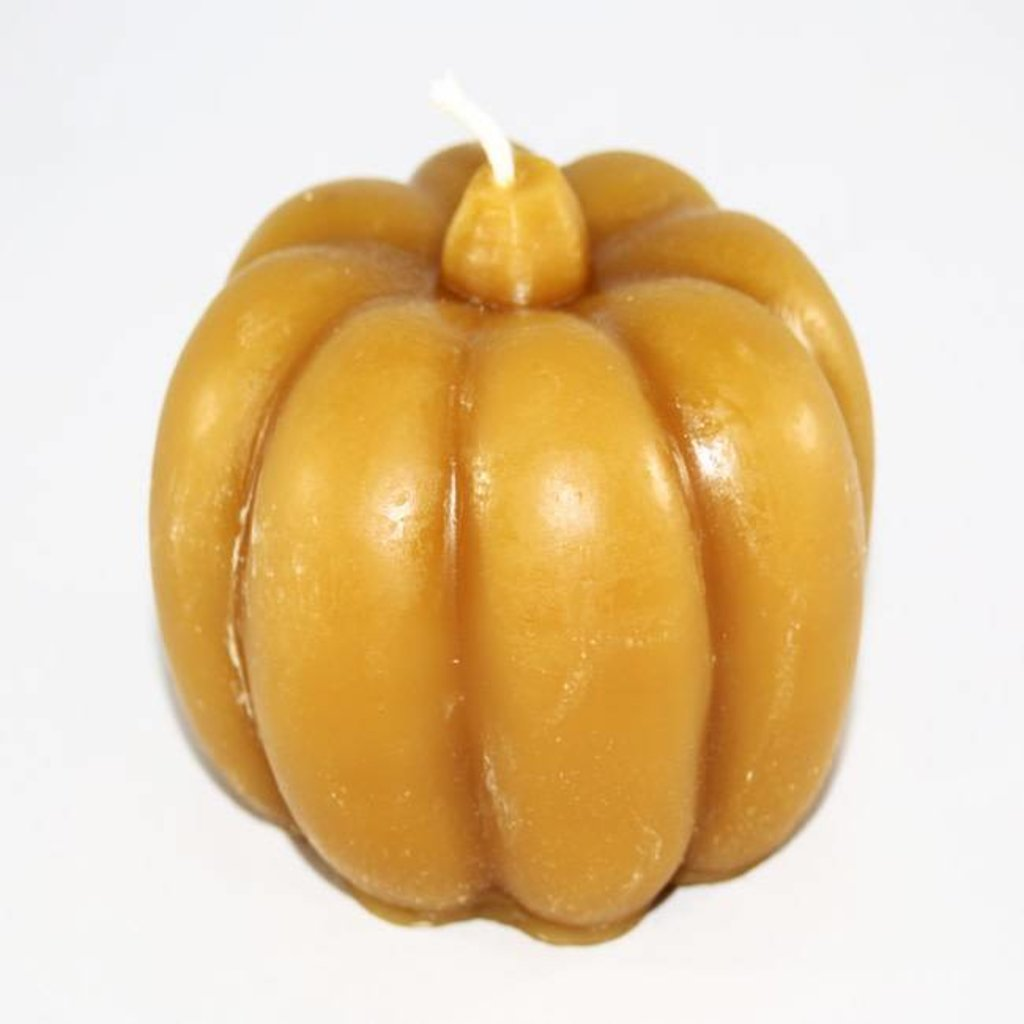 """Bee Well Pumpkin Beeswax  3 1/2"""" Candle"""