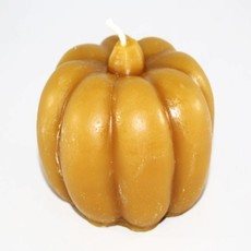 "Bee Well Pumpkin Beeswax  3 1/2"" Candle"