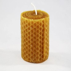 Bee Well Rolled Beeswax Look Votive Candle