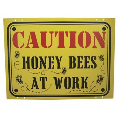 Sign Caution Bees at Work