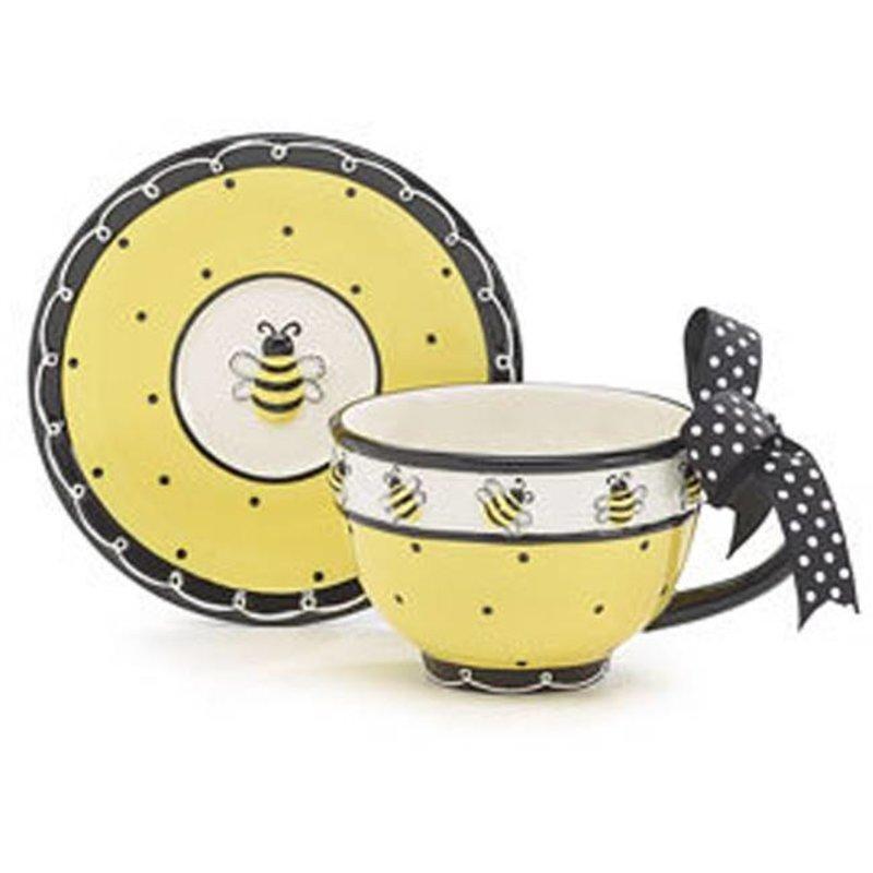 Teacup & Saucer Bee Days