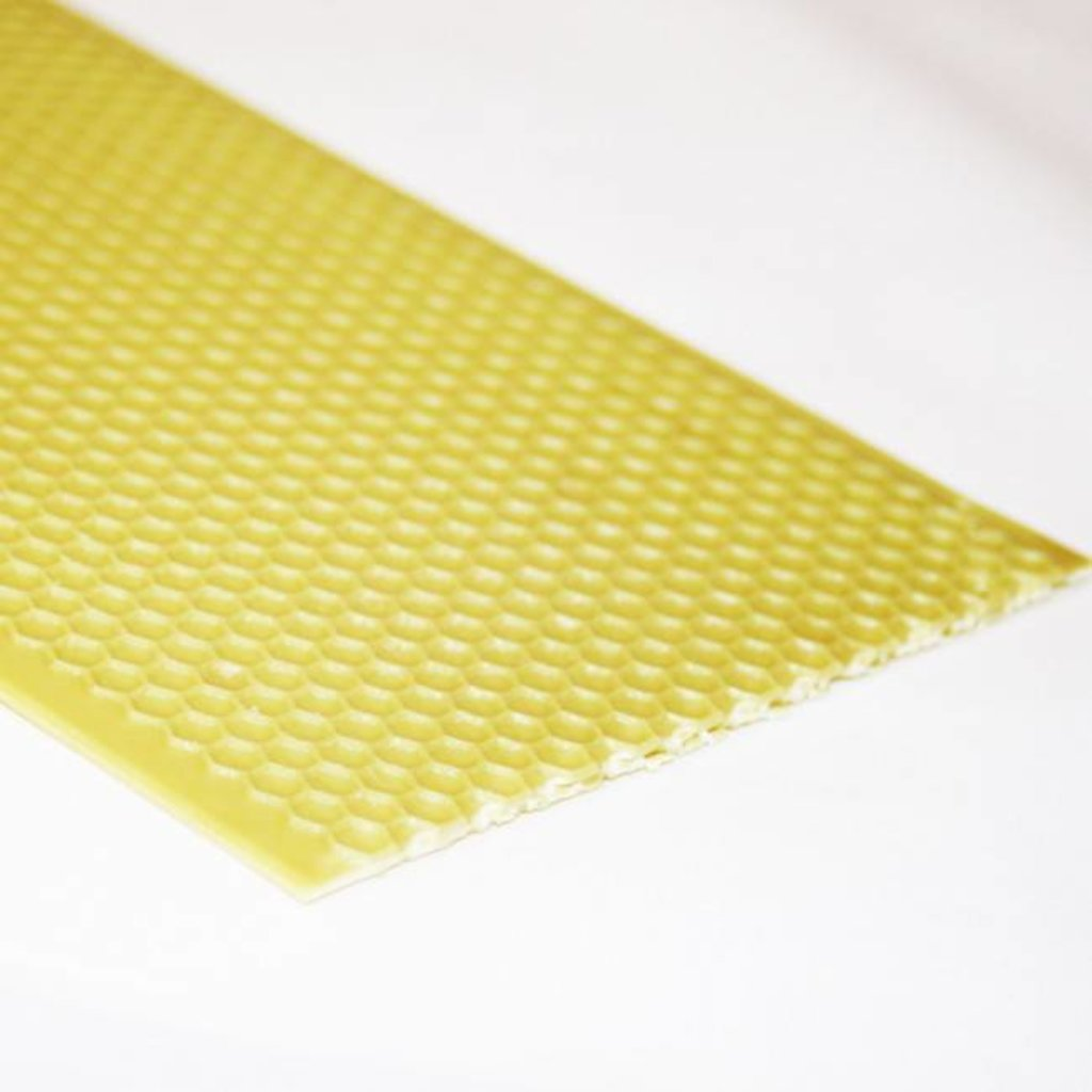 Foundation Deep/Brood Yellow Plastic wax coated