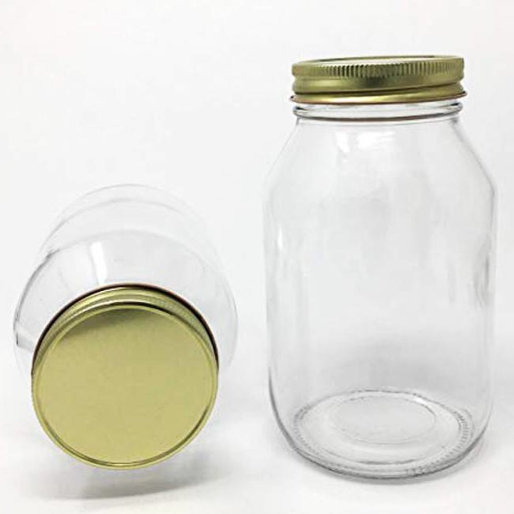 Quart Jars w/Lids 12ct