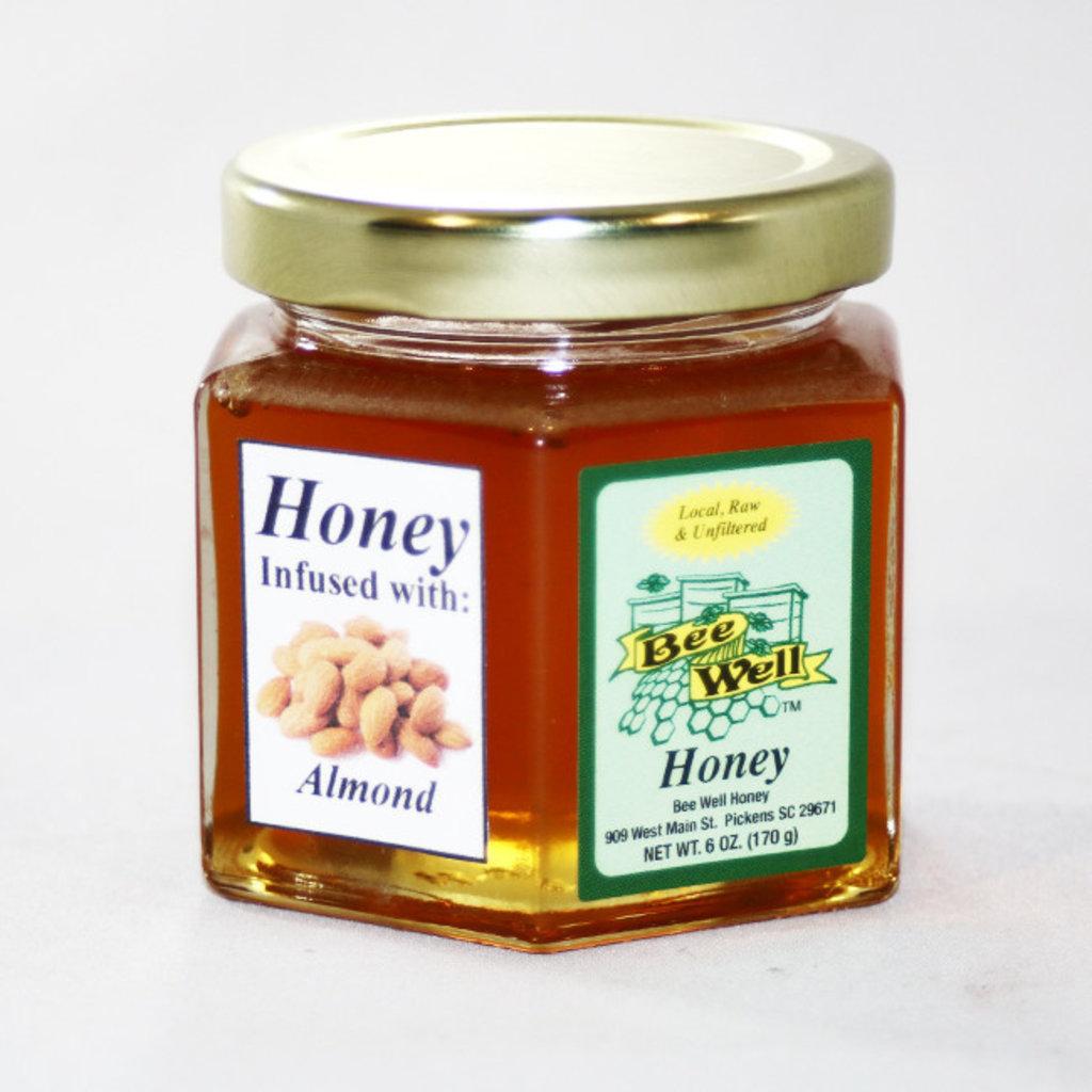 Bee Well Honey Infused Honey Almond 6oz