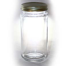 16oz Glass Jar w/Lids 12ct