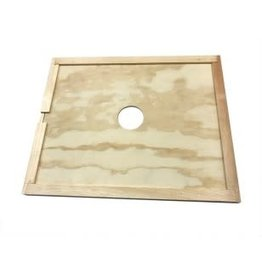 Dadant Inner Cover with Feeder Hole 10 frame
