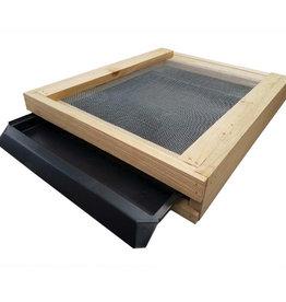 Dadant Bottom Board Cypress with West Trap, Landing Board & IPM Board