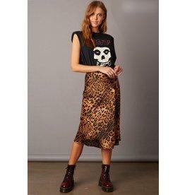cotton candy silk leopard skirt
