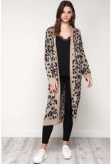 flight lux mustard seed leopard duster sweater