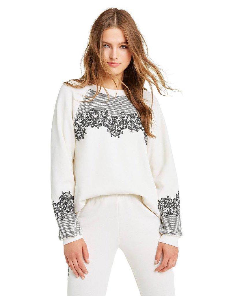 wildfox wildfox sweater chantily lace print
