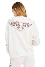 wildfox wildfox hoodie with rosy stems print