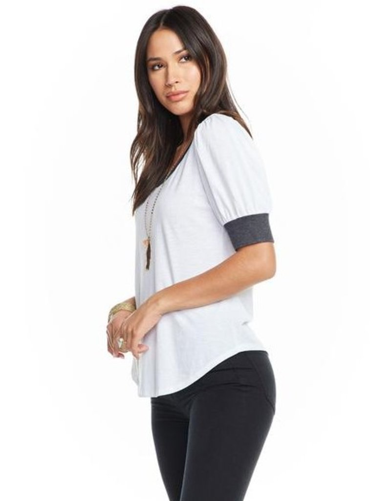chaser chaser puff sleeve tee