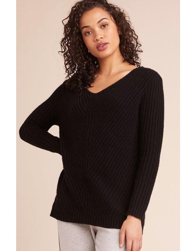 bb dakota bb dakota sweater wtih lace up back
