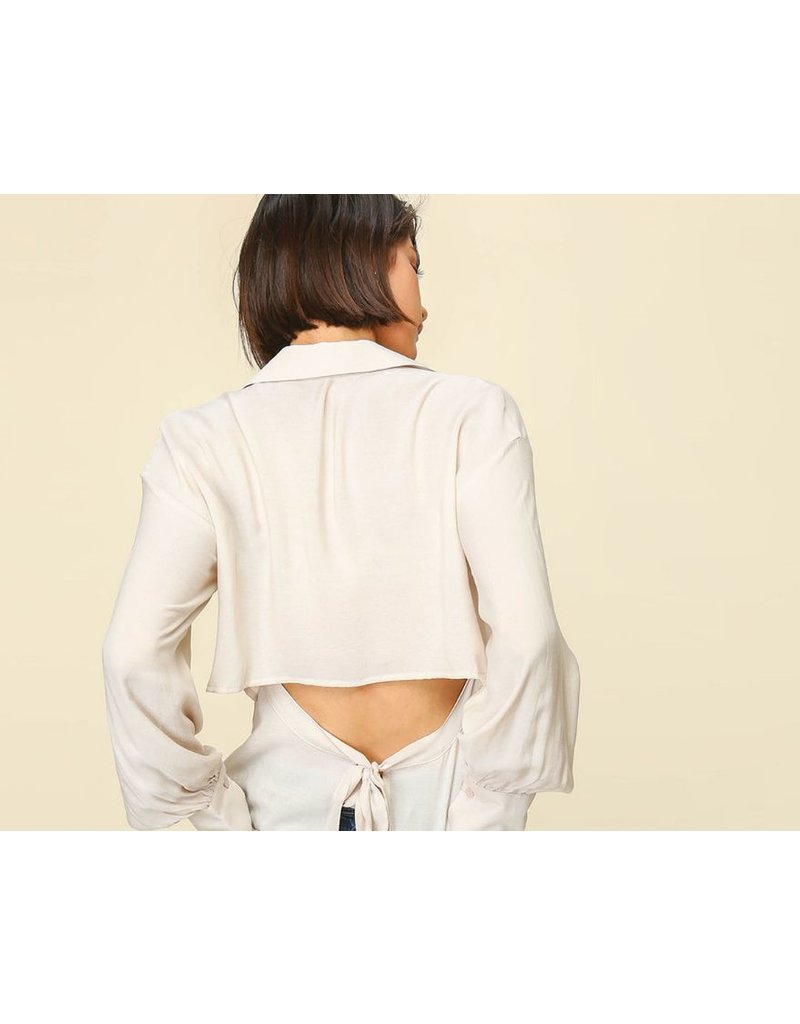 line & dot line & dot shirt with open back