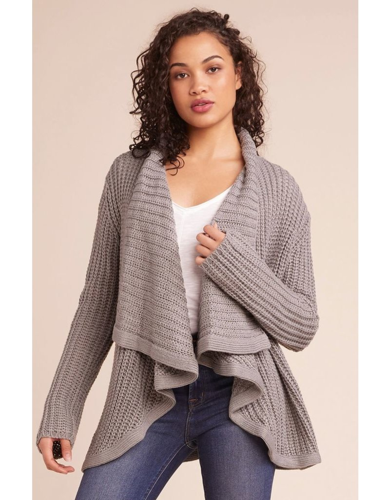 bb dakota bb dakota open cardigan with oversized collar