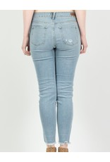 flight lux just usa high rise skinny with frayed hem