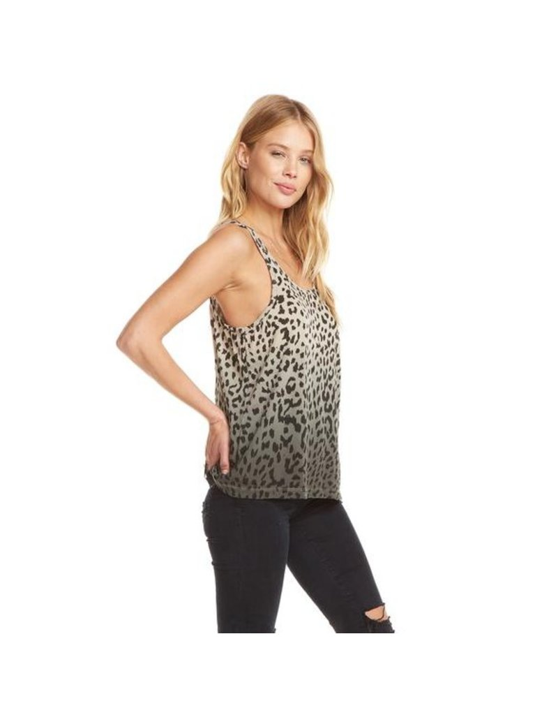 chaser chaser cotton jersey racer back tank
