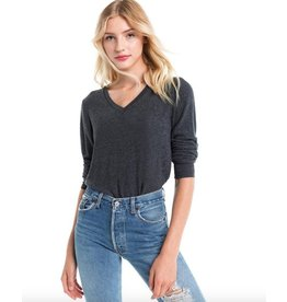 wildfox wildfox v neck bbj long sleeve jumper