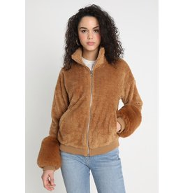 flight lux honey punch fur cuff all over fur bomber