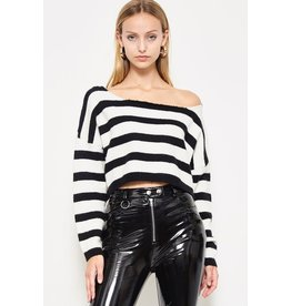 flight lux etophe studios crop stripe sweater