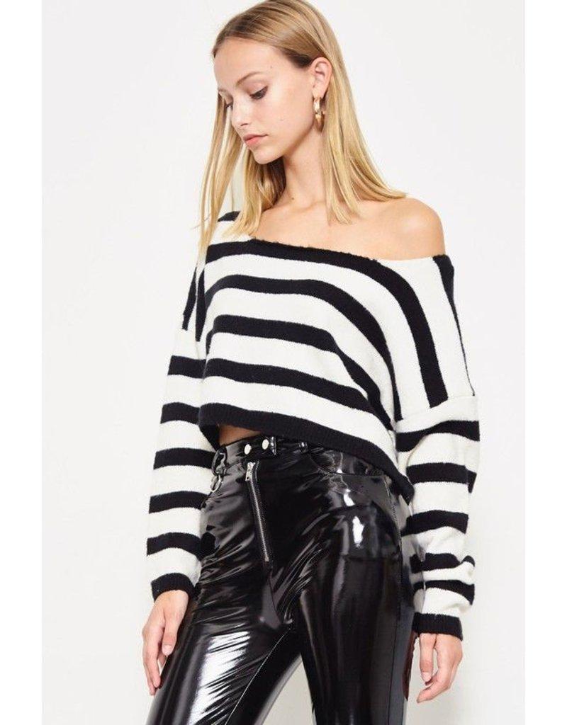 flight lux etophe studios crop stripe sweater