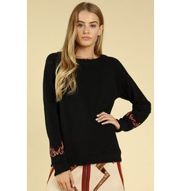 flight lux wild honey crewneck with flame detail