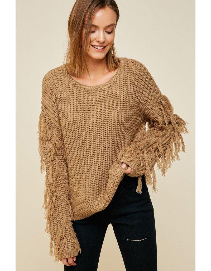 hayden hayden fringe sleeve sweater