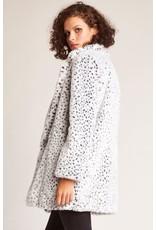 jack jack snow leopard faux fur jacket