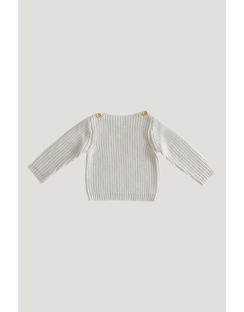 jamie kay jamie kay rib sweater wtih button shoulders