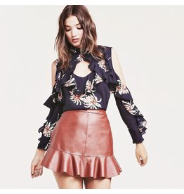 bb dakota bb dakota faux leather skirt