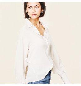 line & dot line & dot shirt with open back
